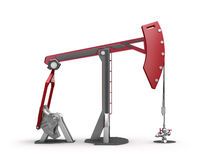 Oil Rig : Pump jack  on white Royalty Free Stock Images