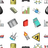 Oil rig, pump and other equipment for oil recovery, processing and storage.Oil set collection icons in cartoon style. Vector symbol stock illustration Royalty Free Stock Photo