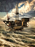Oil rig at sea Stock Images