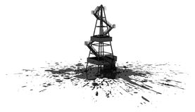 Oil Rig Spill Stock Photo