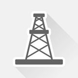 Oil rig sticker with shadow Stock Photo