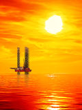 Oil Rig at sunrise Royalty Free Stock Image