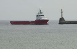 Oil rig supply vessel Aberdeen Scotland UK Stock Photo
