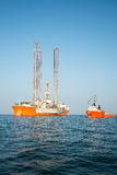Oil rig Royalty Free Stock Photo