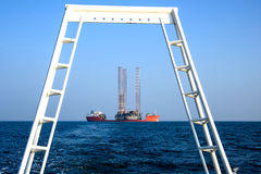 Oil rig Stock Photos