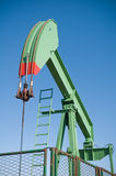 Oil rig. Working on blue sky background Stock Photography