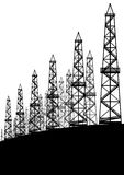Oil rigs Royalty Free Stock Photos