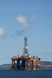 Oil rigs being constructed Stock Photo