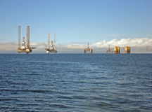 Oil rigs in the Cromarty Firth Royalty Free Stock Photo