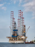 Oil rigs in Esbjerg harbor, Denmark Royalty Free Stock Photos