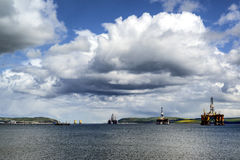 Oil Rigs on the Firth of Forth Stock Images