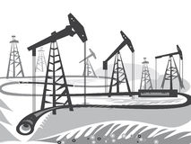 Oil Rigs Stock Images