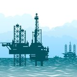 Oil rigs at sea-1 Stock Photography