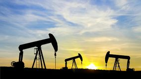 Oil ring at sunrise stock video