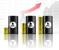 Oil rise in price,. Oil and energy Stock Image