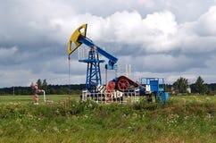 Oil rocking chair in the Kaliningrad region, Russia.  Stock Photo