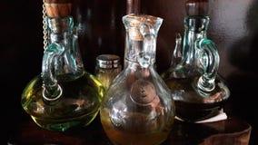 Oil  salt vinegar. Combination  of oil salt and vinegar from my kitchen Stock Photography