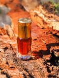 The oil of sandalwood. Traditional Indian perfume. royalty free stock images