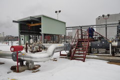 Oil sands pump facilities Stock Photos