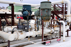 Oil sands pump facilities. Oil sands pump facitlities in northern alberta, which pumps controrversial bitumen to the United states Royalty Free Stock Image