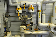 Oil sands pump facilities Stock Images