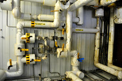 Oil sands pump facilities stock image