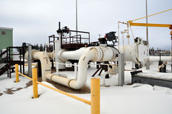 Oil sands pump facility. In northern Alberta, which pumps controversial bitumen to the United states Royalty Free Stock Photos