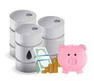 Oil savings profits Royalty Free Stock Images