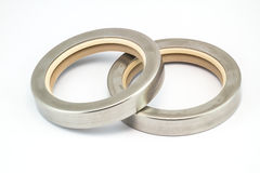 Oil Seal. Two Stainless housing oil seal Royalty Free Stock Photos
