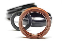 Oil seal with shallow depth of field Stock Image