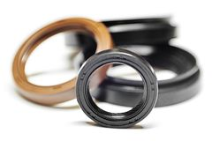 Oil seal with shallow depth of field Stock Photos