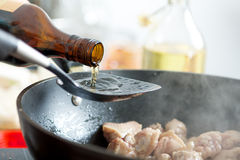 Oil Seasoning Royalty Free Stock Photography