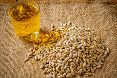 Oil and Seeds Royalty Free Stock Photos