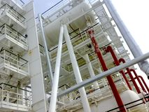 Oil separation unit. The primary separation stage and the final stage of separation in one physical block. Oil separation unit. The primary separation stage and Stock Images