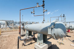 Oil separator and gas pipelines Stock Photos