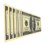 Oil. Serial numbers on dollar bills draw up words Stock Photography