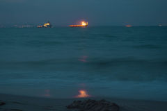 Oil ships Royalty Free Stock Images