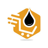 Oil Shop. Simple and modern oil shop illustration Royalty Free Stock Photography