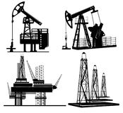 Oil silhouette hand drawn Stock Photos