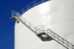 Oil Silo Royalty Free Stock Photo