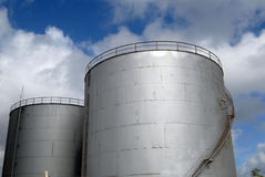Oil silos Stock Photography