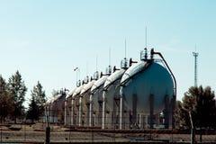 Oil silos Royalty Free Stock Image