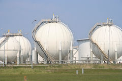 Oil Silos Stock Image