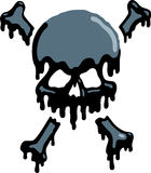 Oil Skull. A skull has oil dripping from it, danger signs Royalty Free Stock Images