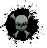 Oil Skull Splatter Royalty Free Stock Image