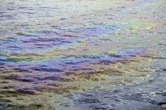 Oil slick iridescent rainbow Royalty Free Stock Photos