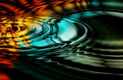 Oil Slick Ripples Stock Images