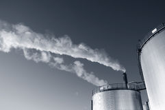 Oil, smoke and industry Stock Photography