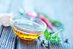 Oil and spice Royalty Free Stock Images