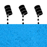 Oil spill Royalty Free Stock Photos